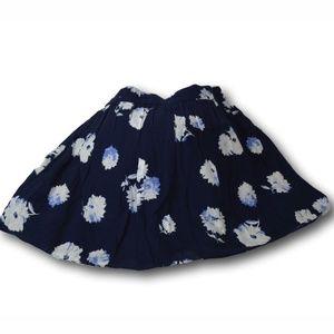 Womens Daisy Print Navy Blue Gap Skirt